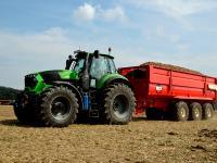 Deutz-Fahr Serie 9: Die neue Traktorenserie im Praxiseinsatz auf der PotatoEurope 2014.