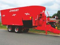 Der neue Futtermischwagen Solomix P ZKX von Trioliet ist in drei Gr��en erh�ltlich.