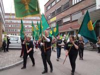 Wie 2012 gehen auch heute norwegische Landwirte wieder auf die Stra�e, um gegen die Regierung zu demonstrieren.