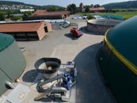 Blick �ber das Hessische Biogasforschungszentrum HBFZ.