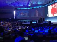Martin Schulz, Spitzenkandidat und EU-Parlamentspr�sident nach der Bekanntgabe der offiziellen Hochrechnung.